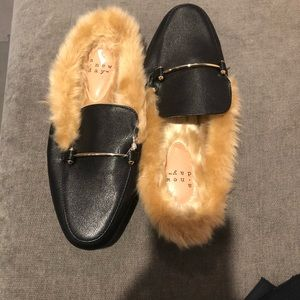 Faux fur flat mule by A new day( target)
